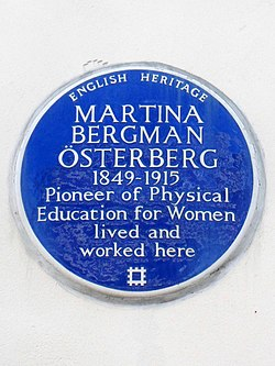 Martina bergman Österberg 1849 1915 pioneer of physical education for women lived and worked here