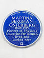 MARTINA BERGMAN ÖSTERBERG 1849-1915 Pioneer of Physical Education for Women lived and worked here.jpg