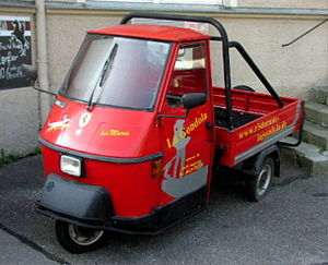 Piaggio Ape - An Ape used for pizza delivery