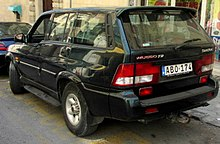 1998–05 SsangYong Musso, rear view