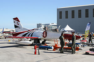 Hongdu JL-8 - Egyptian Air Force K-8E on display at the 2015 Malta International Airshow