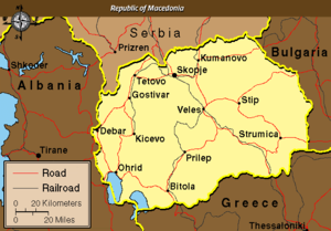 Political Map of The Former Yugoslav Republic ...