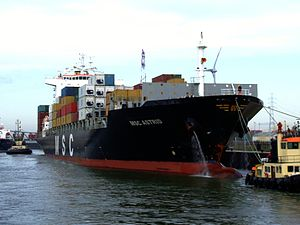 MSC Astrid at Berendrecht lock, Antwerp, Belgium 22-Oct-2008.jpg