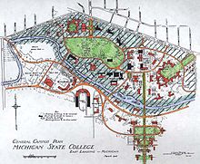 Baker College Flint Campus Map.Campus Of Michigan State University Wikipedia