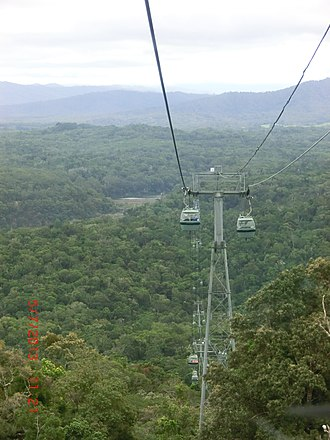 Macalister Range, Queensland - Looking down from Skyrail onto Macalister Range, 2013
