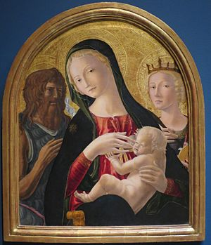 Neroccio di Bartolomeo de' Landi - The Madonna and Child between John the Baptist and Saint Catherine