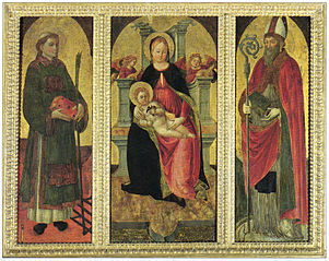 Madonna and child with Saints Lawrence and Augustine
