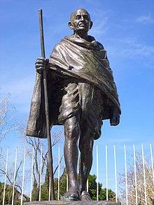 Mahatma Gandhi  Wikipedia Monument To M K Gandhi In Madrid Spain English Essay Ideas also Essay Com In English  Science Argumentative Essay Topics