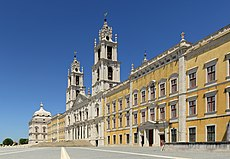 Der Mafra Palast im Barockstil