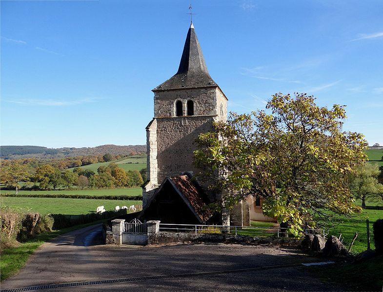 L'église de la Sainte Trinité, Magny-Lormes, Nièvre, France. (vue Nord/Nord-Ouest)