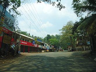 Mahatma Gandhi University, Kerala - Junction in front of university