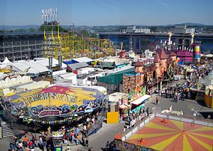 Traveling carnival - A funfair in Passau, Germany