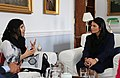 Malala Yousafzai with Priti Patel - Education for girls - 2017 (33735895310).jpg