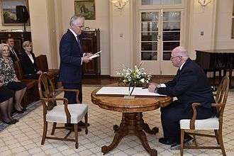 Malcolm Turnbull - Turnbull sworn in as Prime Minister by Governor-General Sir Peter Cosgrove
