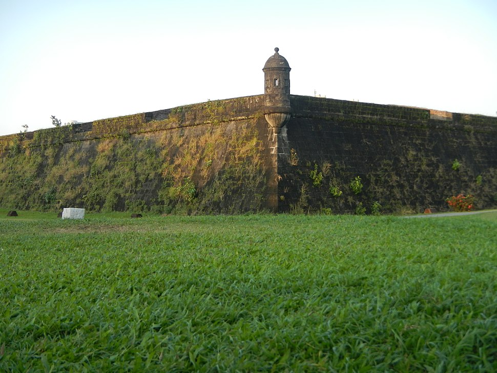 "The defensive walls of Intramuros, the ""Walled City"" of old Manila, Philippines"
