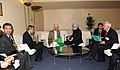 Manmohan Singh in a bilateral meeting with the Chairman of the Council of Ministers of Nepal, Mr. Khil Raj Regmi, on the sidelines of the 68th Session of the United Nations General Assembly, in New York on September 28, 2013 (1).jpg