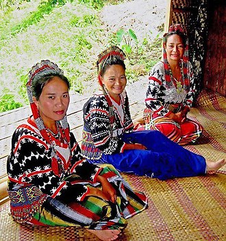 Lumad - A group of Mansaka tribeswomen in their formal attire.
