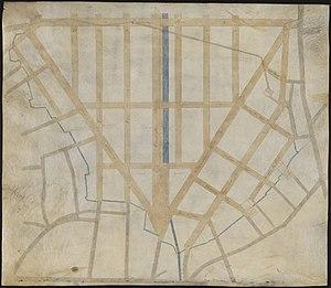 Haymarket Square (Boston) - Image: Manuscript plan of the Bulfinch Triangle, Boston, MA (2674588524)