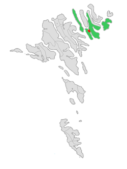 Location of Klaksvíkar kommuna in the Faroe Islands