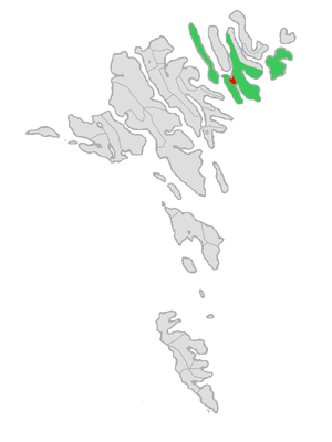 Klaksvík - Image: Map position klaksvikar kommuna 2008