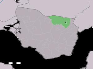 's-Heer Abtskerke - Image: Map NL Borsele 's Heer Abtskerke