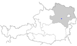Map of Austria, position of Lilienfeld highlighted