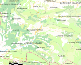Mapa obce Buis-les-Baronnies