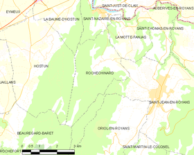 Map commune FR insee code 26270.png