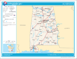 Map of Alabama NA