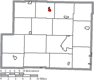 Scio, Ohio - Image: Map of Harrison County Ohio Highlighting Scio Village