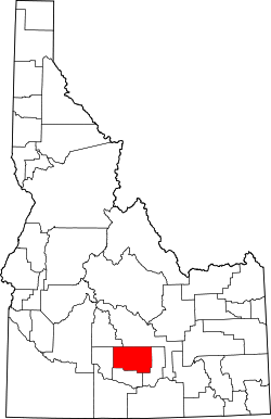 Map of Idaho highlighting Lincoln County.svg