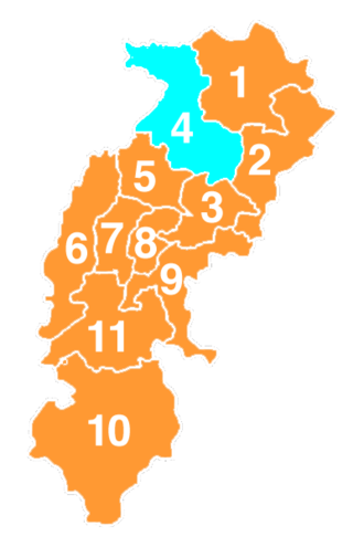 Indian general election, 2009 (Chhattisgarh) - Image: Map of Indian parliamentary election result 2009 in Chhattisgarh