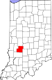 Map of Indiana highlighting Owen County.svg