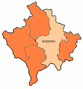 Situation du district de Kosovo au Kosovo