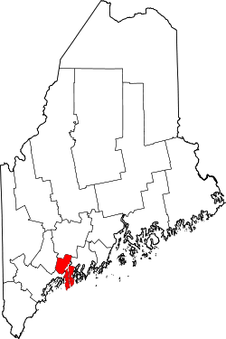 Map of Maine highlighting Sagadahoc County.svg