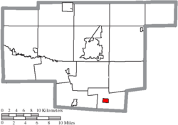 Location of Waldo in Marion County