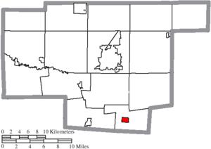 Waldo, Ohio - Image: Map of Marion County Ohio Highlighting Waldo Village