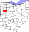 State map highlighting Allen County
