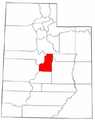 Map of Utah highlighting Sanpete County.png