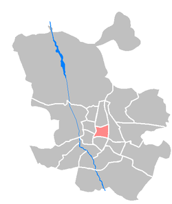 Location of Salamanca