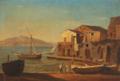 María Isabel de Borbón y Borbón-Parma - Parti ved Napoli med Vesuv i baggrunden.png