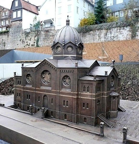 Datei:Marburg Modell ehemalige Synagoge Universitätsstraße 2.jpg