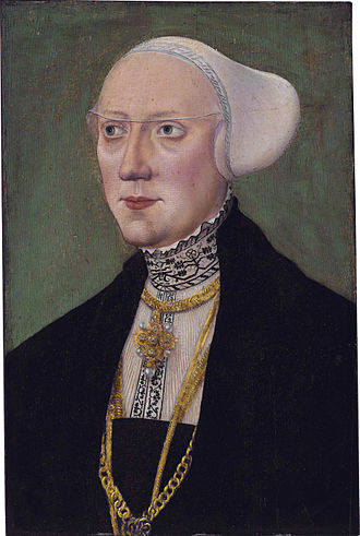 William IV, Duke of Bavaria - Maria Jacobäa von Baden, wife of Duke Wilhelm IV of Bavaria (Hans Schöpfer I)