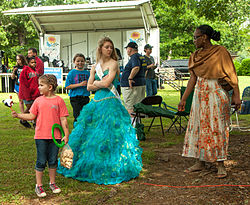 Queen of the Marigold Festival in Winterville