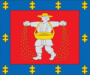 Borders of Russia - Image: Marijampole County flag