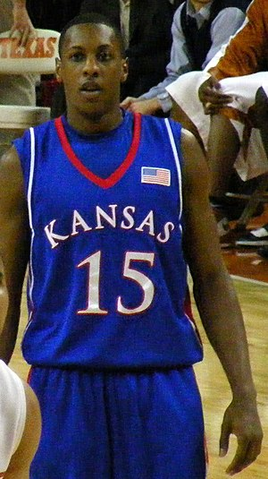 Mario Chalmers - Chalmers playing for the Kansas Jayhawks in February 2008.