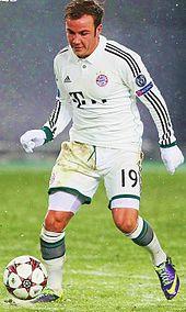 Mario Götze, nella stagione 2013-2014, con la maglia del Bayern Monaco