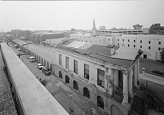 City Market (Charleston, South Carolina) - Market Hall (prior to restoration), with sheds stretching into the distance