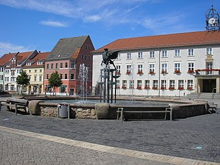 Anklam Place in Mecklenburg-Vorpommern, Germany