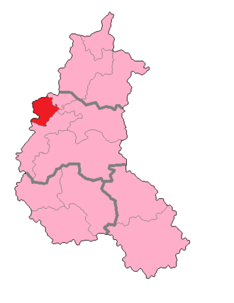 Marne's 2nd constituency - Marne's 2nd Constituency shown within Champagne-Ardenne.